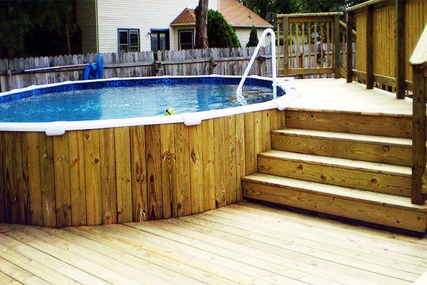 Above Ground Pool Decks From House 10 (more) awesome above ground pool deck designs | spp inground