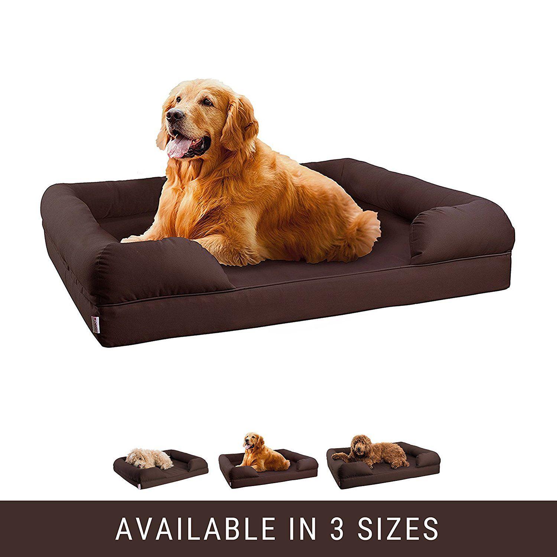 amazon com orthopedic pet sofa bed dog cat or puppy memory foam