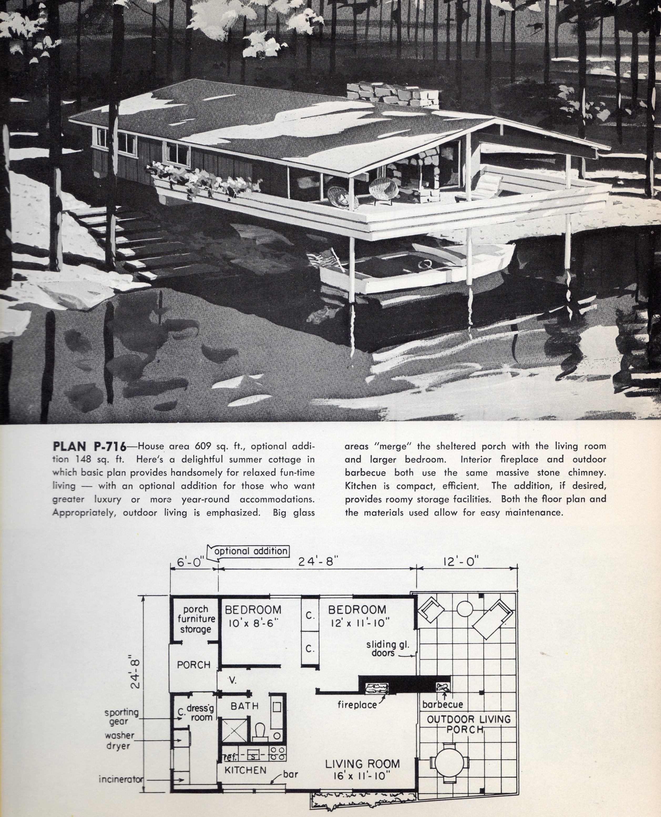 Lakeside small cabin plans narrow lot house plans vintage house plans modern house