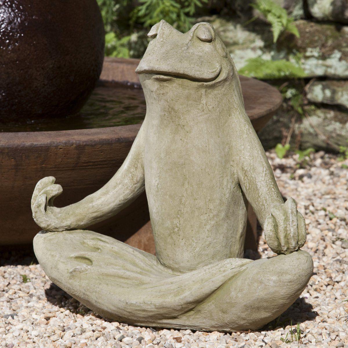 Totally Zen Frog Connie Hanna Stone Garden Statues 400 x 300