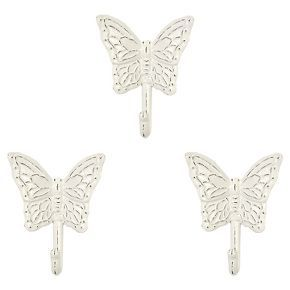 Butterfly Wall Hooks Set of 3 , White - Pillowfort™