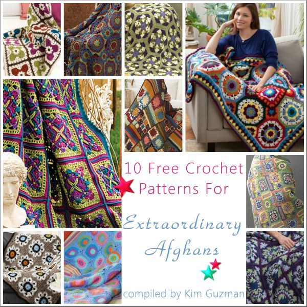 WIPs 'N Chains | Link Blast: 10 Free Crochet Patterns for Extraordinary Afghans ✿⊱╮Teresa Restegui http://www.pinterest.com/teretegui/✿⊱╮