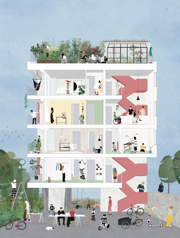 Wohnen für Alle - Frankfurter Wettbewerb für bezahlbares Wohnen entschieden