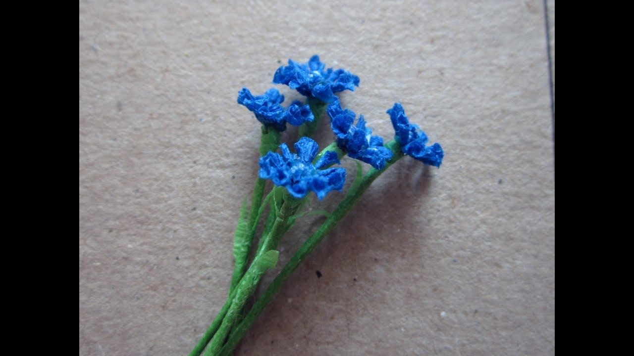 How To Make Miniature Cornflower Dollhouse Miniature And Dolls