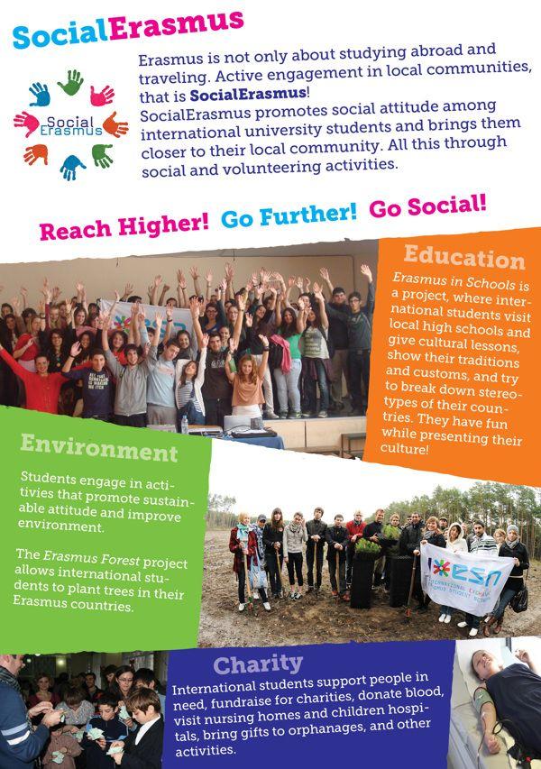 Socialerasmus Flyer Erasmus Student Network Esn Engagement Activities Flyer University Student