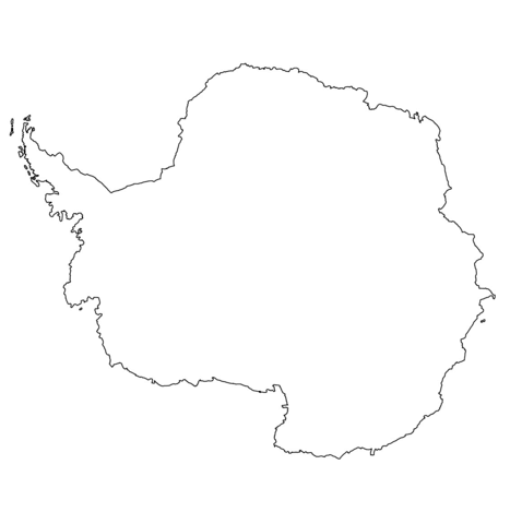 Antarctica Map Coloring Page Coloring Pages Free Printable Coloring Pages Flag Coloring Pages