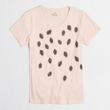 J.Crew+Factory+-+Metallic+feathers+collector+T-shirt