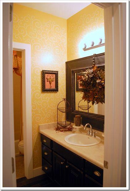 Kids Bathroom W Framed Builder Mirror With Images Framed