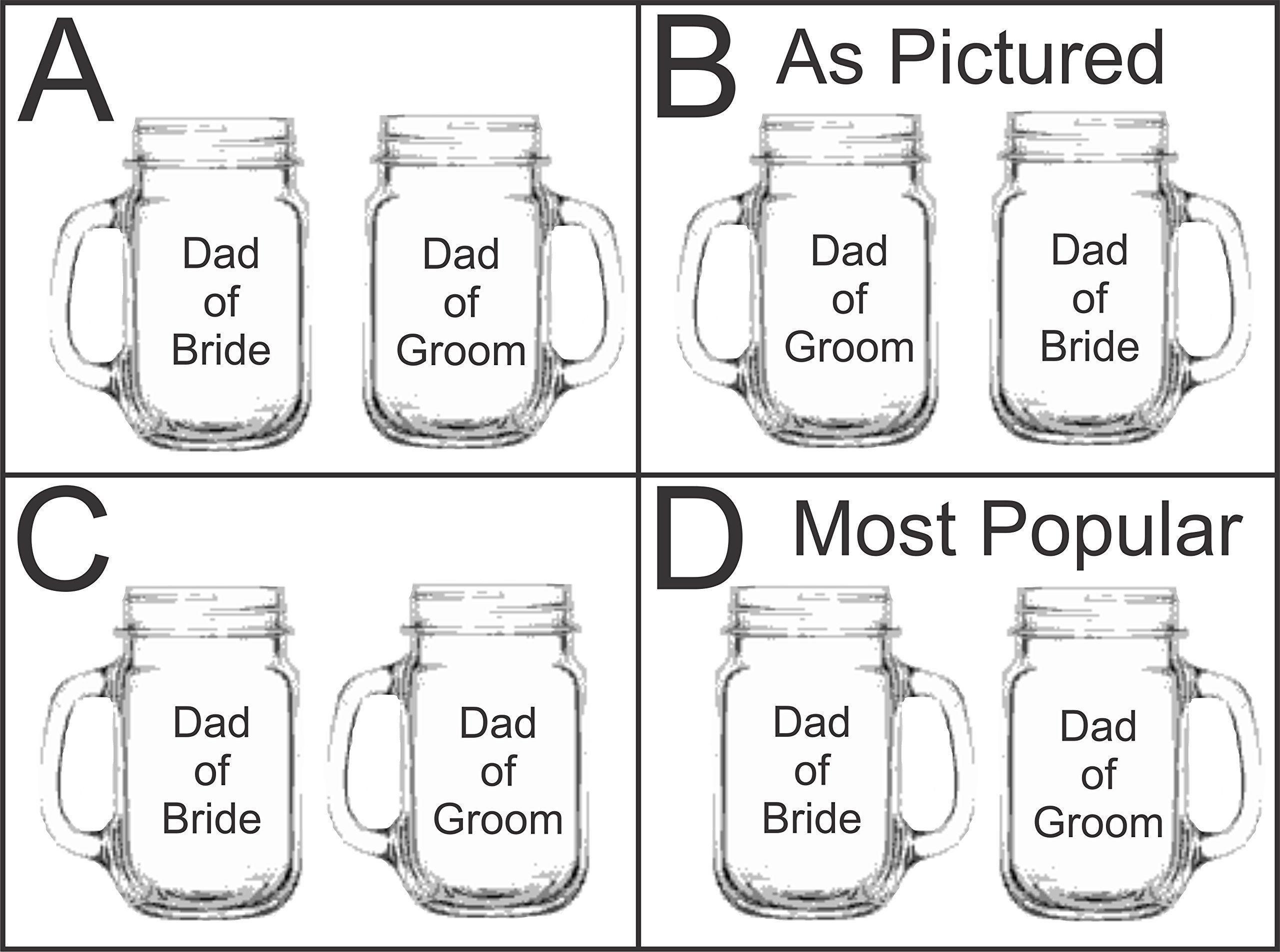 Dad wedding gift mason jars father of the groom gift