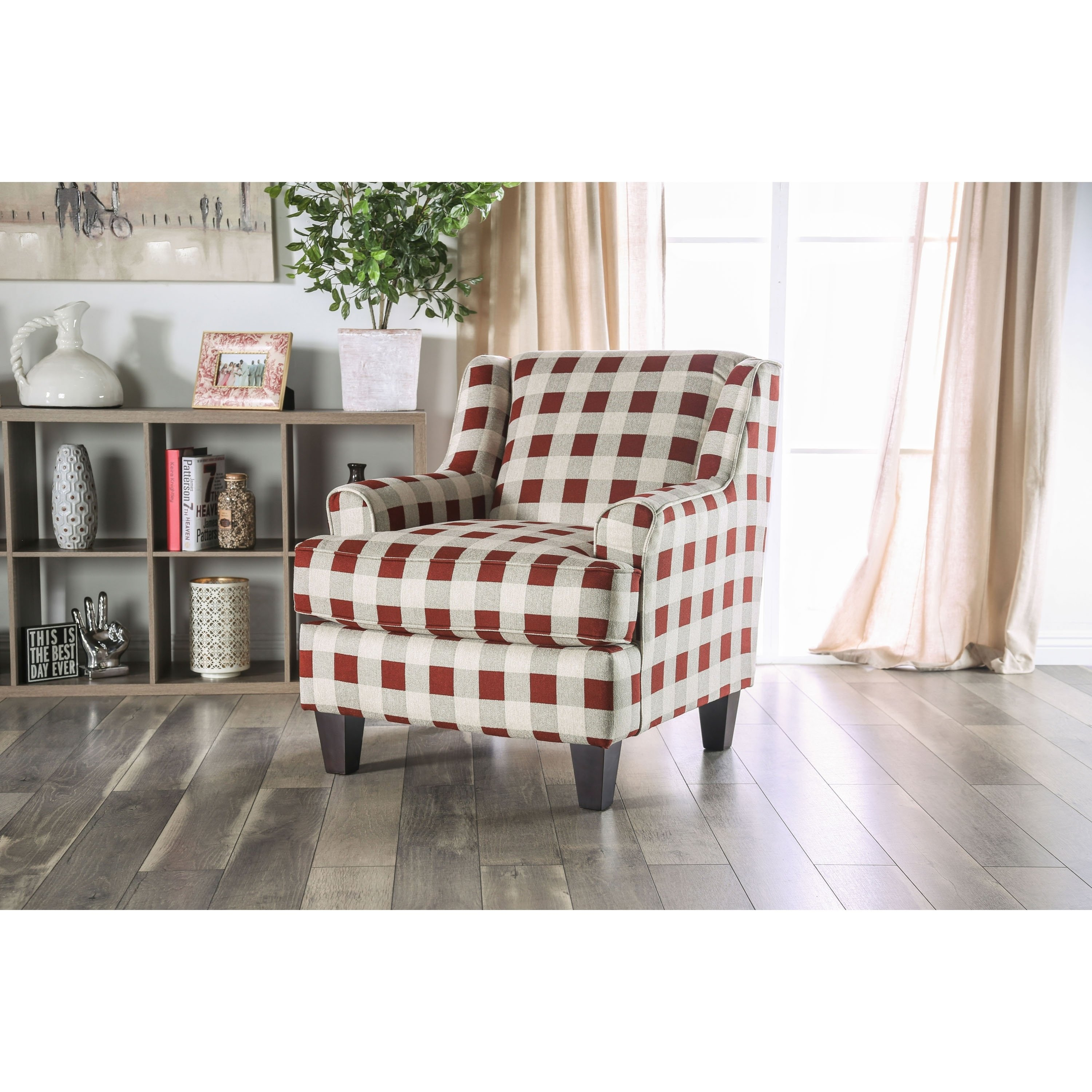 Swell The Gray Barn Winding Oleander Transitional Red Plaid Accent Gmtry Best Dining Table And Chair Ideas Images Gmtryco