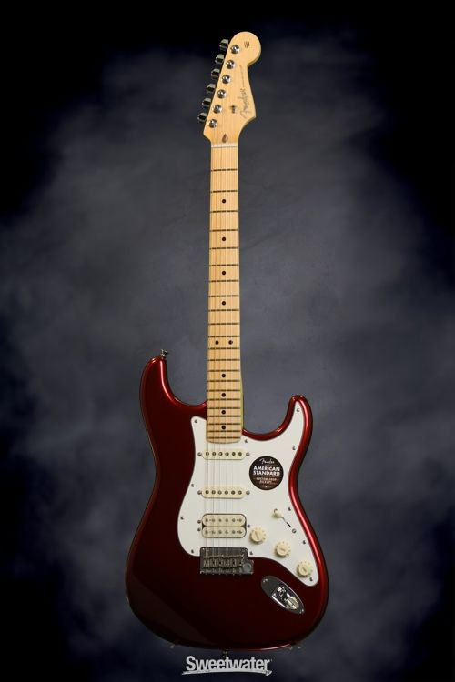 American Stratocaster Plus Hss Electric Guitar Mystic 3color Sunburst
