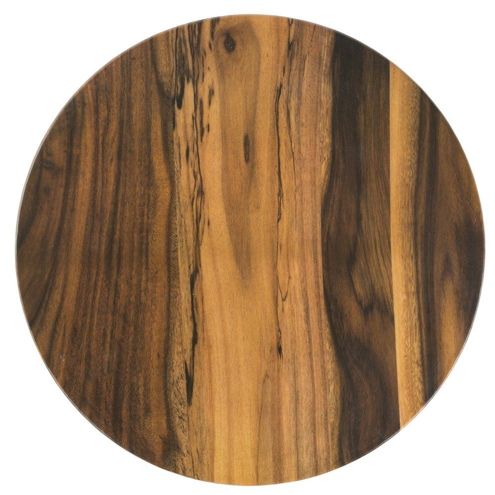 American Metalcraft Awm21 21 1 2 Round Melamine Serving Board Faux Acacia American Metalcraft Wooden Serving Boards Rustic Charm