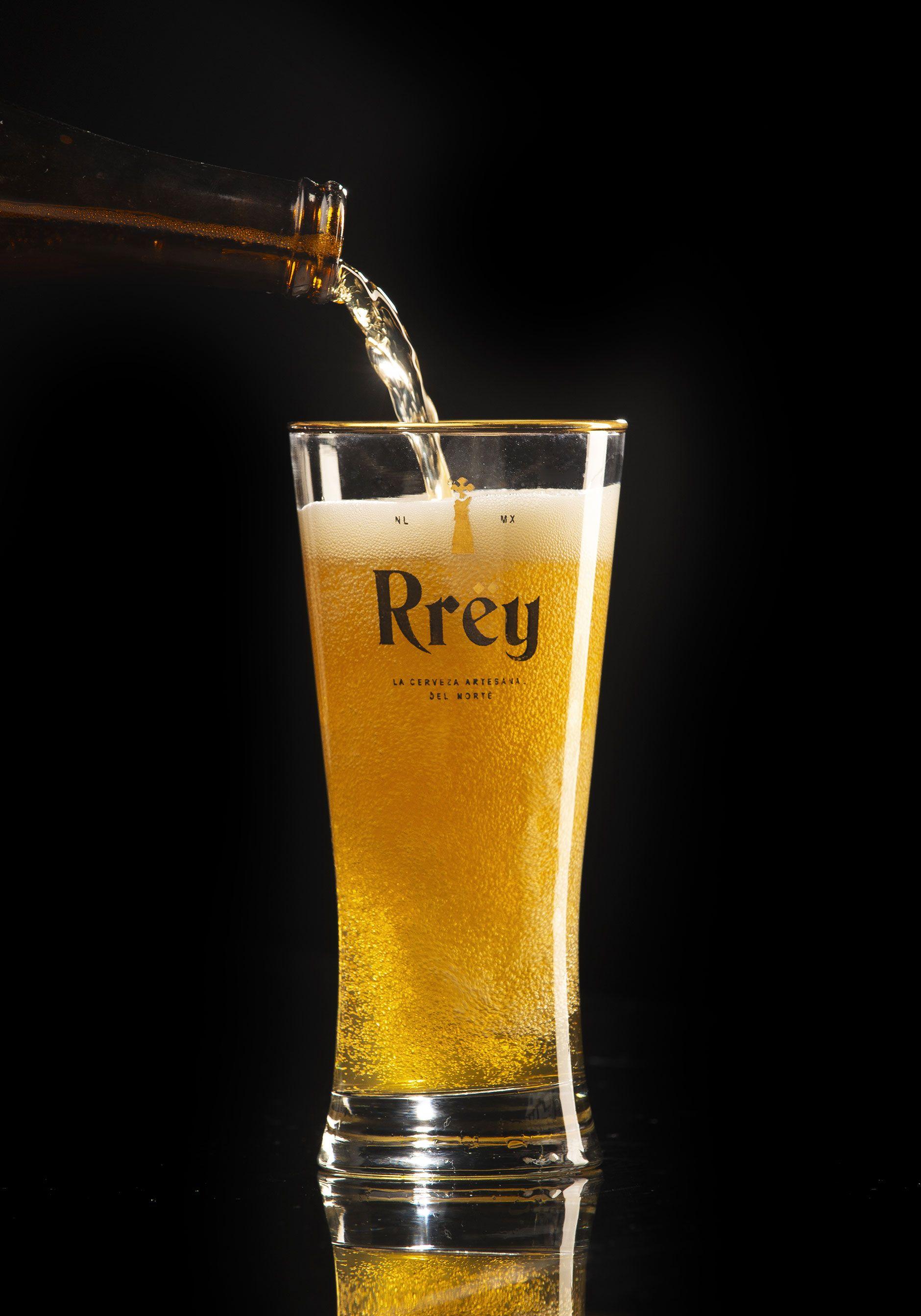 Rrey Mexican Beer Glass Branding