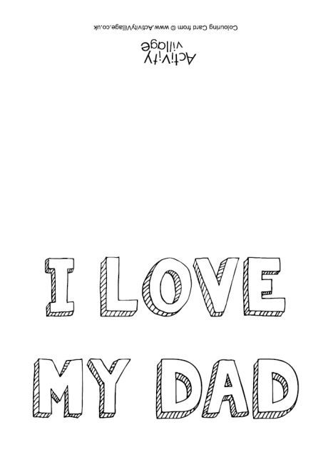 Image Result For I Love My Dad Card Template I Love My Dad Dad Cards Color Card