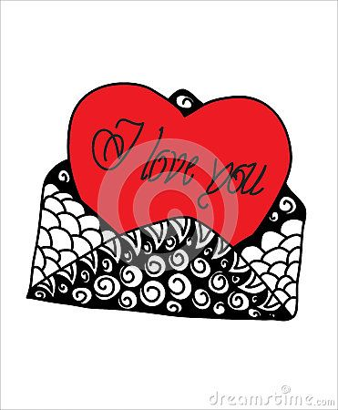 Abstract dedication of love , Valentines Day , Vector  abstract background color . Hand drawn  illustration.