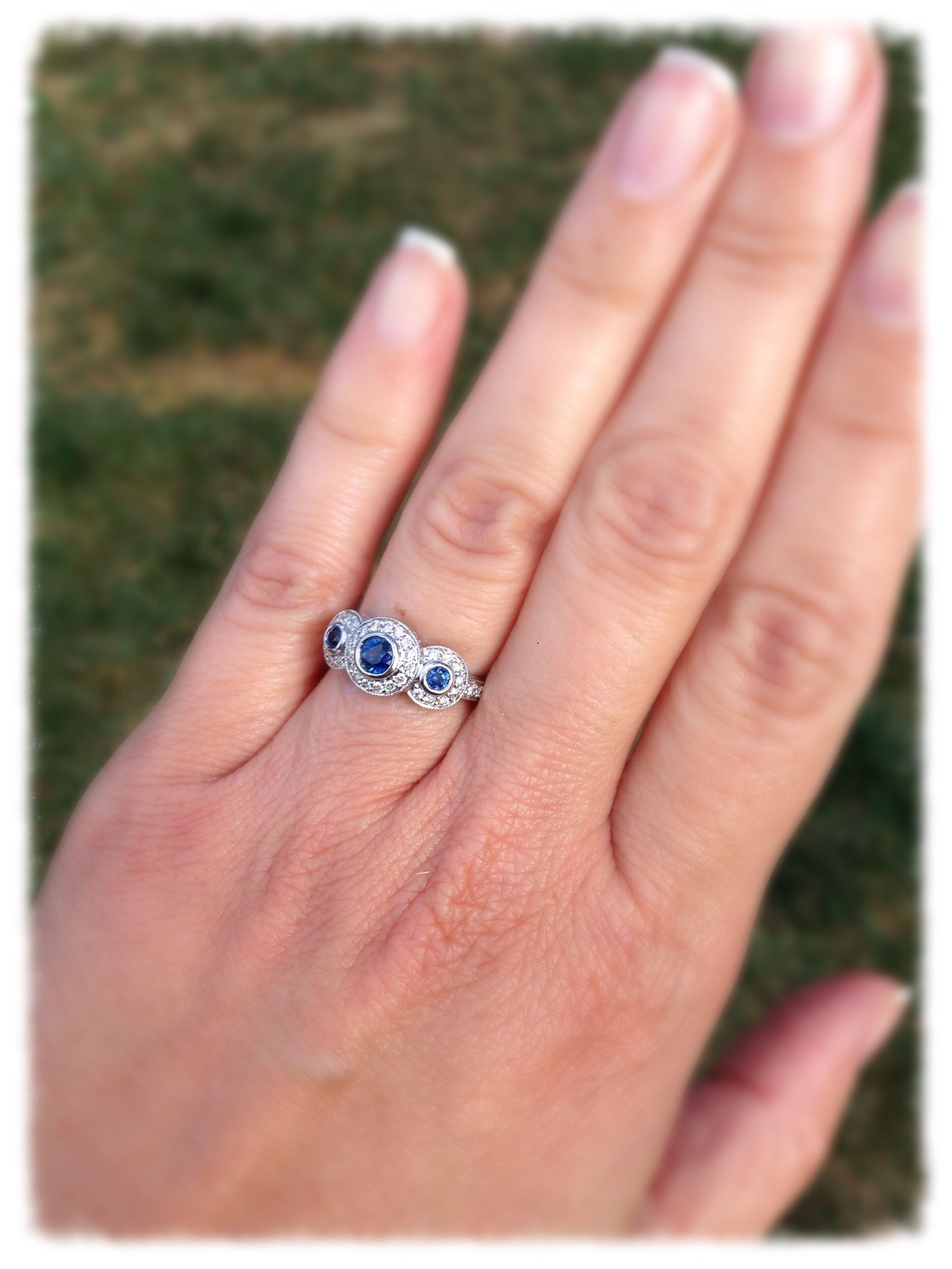 My diamond and sapphire engagement ring. | If I ever get remarried ...