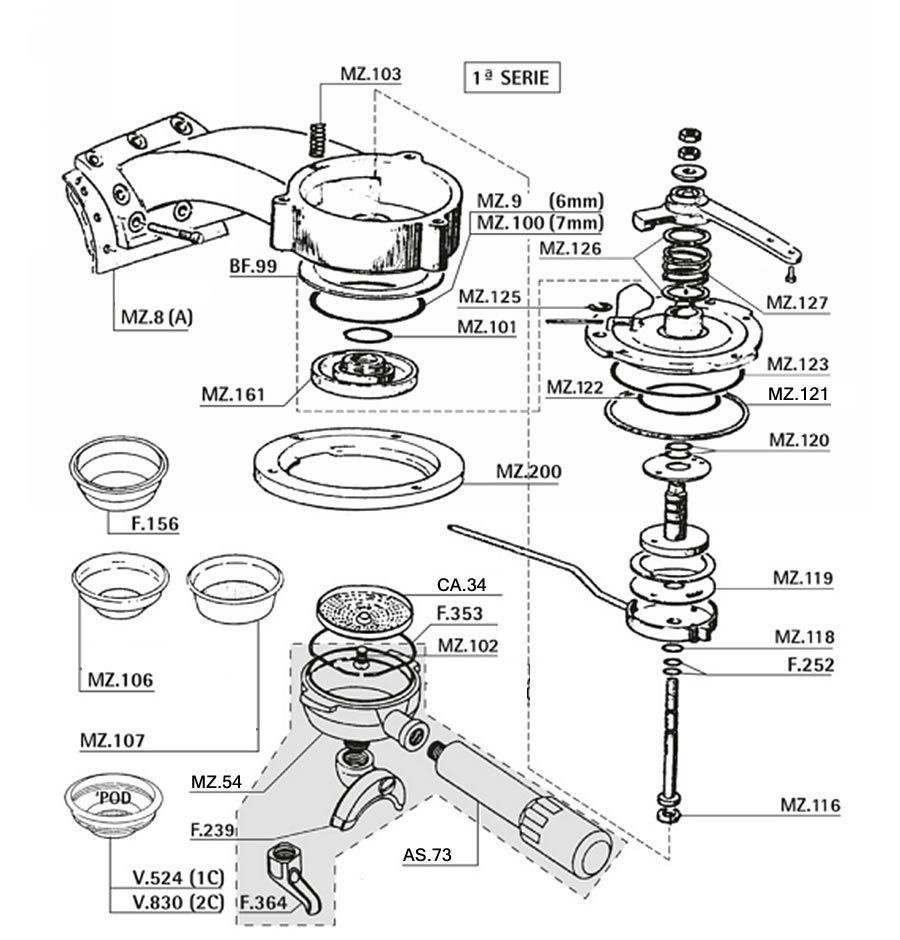 Portafilter schematic. Portafilter schematic Espresso Coffee Machine ...
