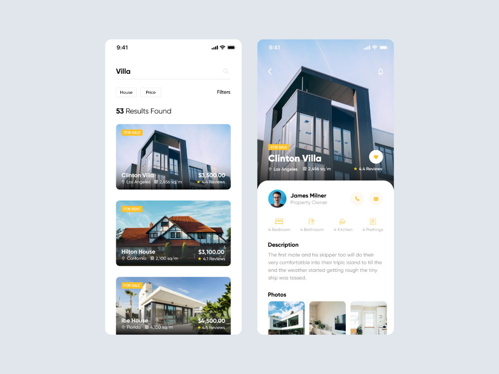 Search Real Estate App