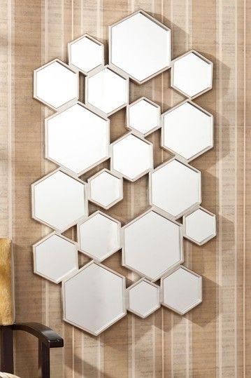 Eschia Honeycomb Mirror Bar Interior Design Mirror Honeycomb