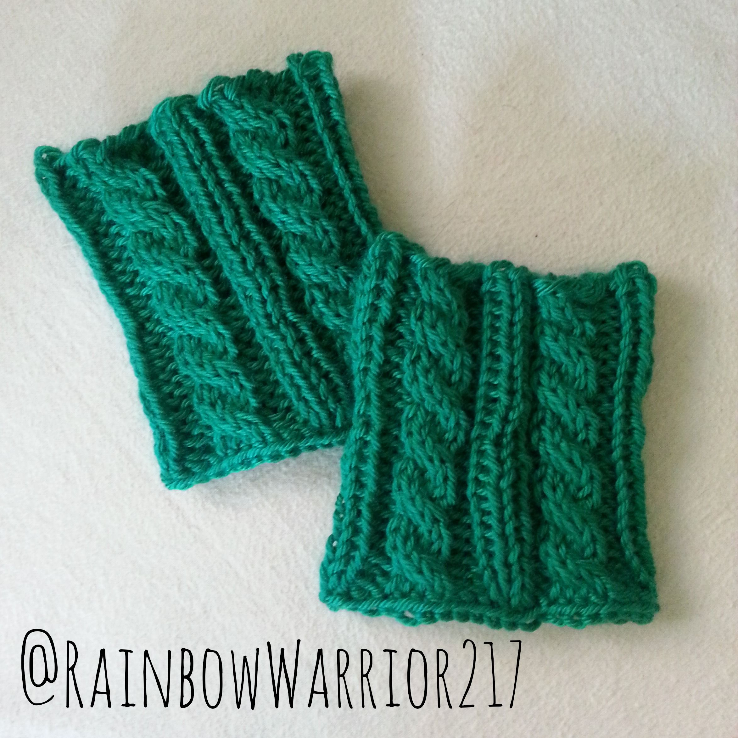 Twisted Cable Boot Cuffs | Easy Knit Pattern | Knitted Accessories ...