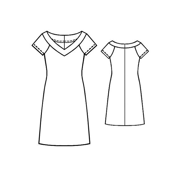 Dress - Sewing Pattern #5144. Made-to-measure sewing pattern from ...