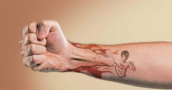 Funny Bruce Lee tattoo | Etsy