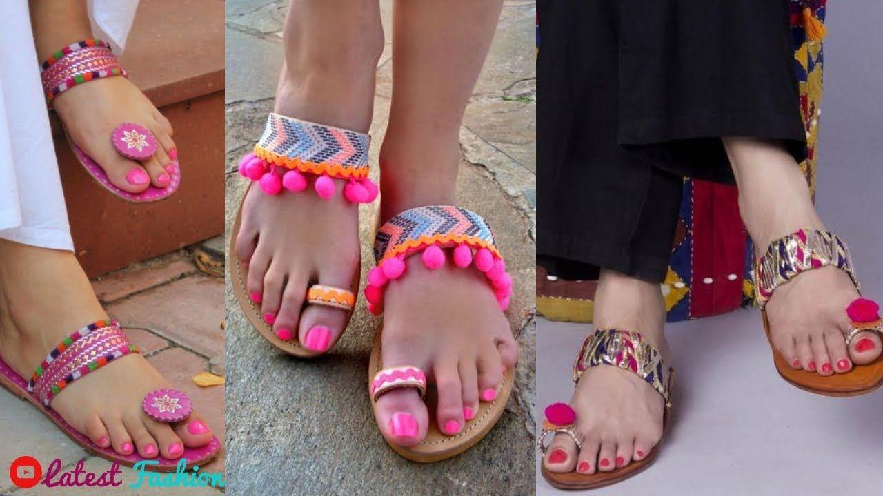 70db20f3dccbc1 Pom Pom Kolhapuri Sandal For Girls