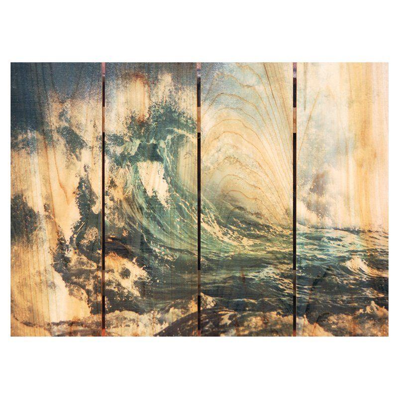 16 x 24 ArtWall Katsushika Hokusais Ono Waterfall on The Kisokaido Removable Wall Art