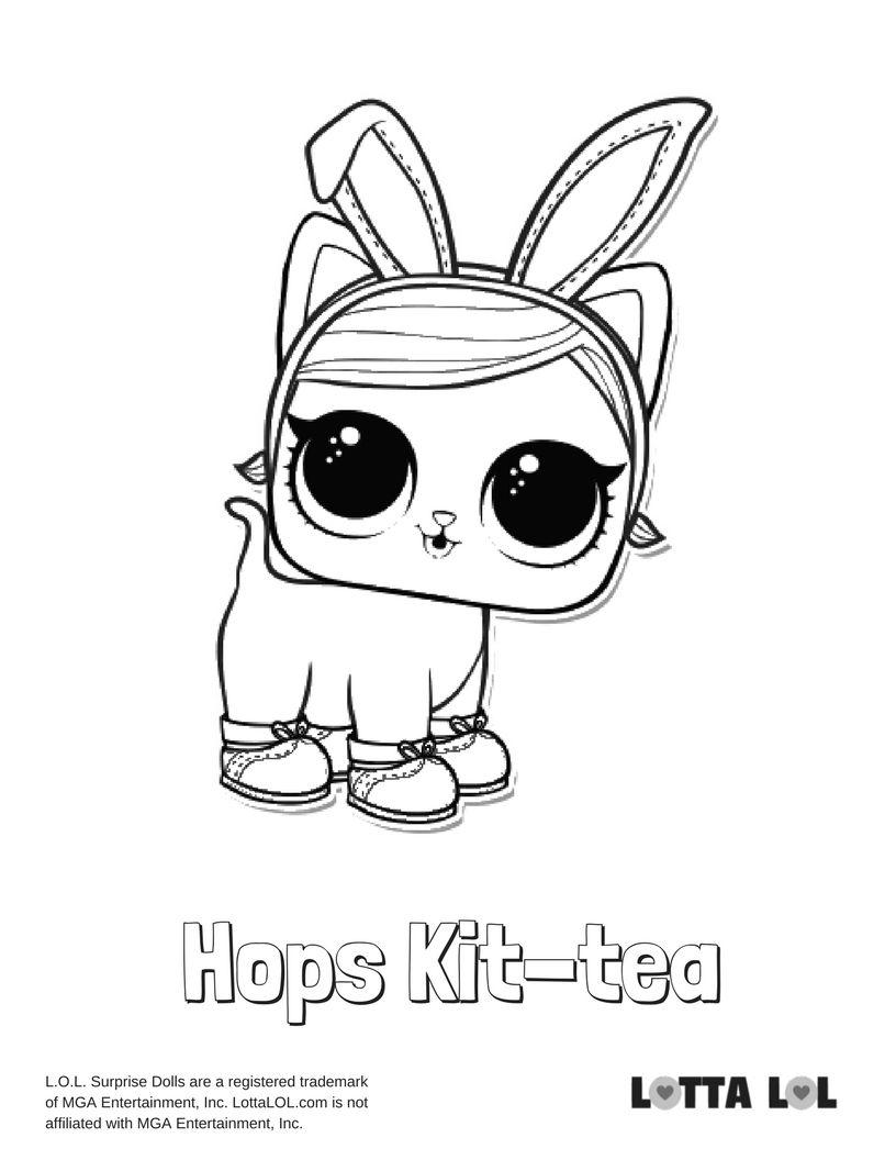 Hops Kit Tea Coloring Page Lotta Lol Lol Dolls Coloring Pages Cool Coloring Pages
