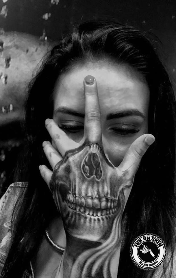 Joker Hand Tattoos: 44 Bold Skull Tattoos To Celebrate Your Mortality