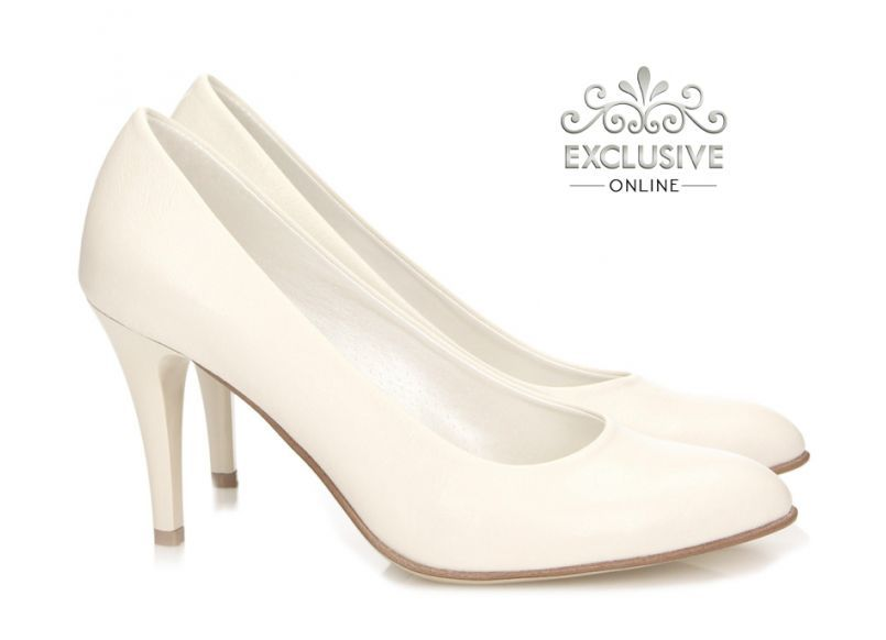Szpilki Slubne Julie Ecru Wedding Shoe Shoes Fashion