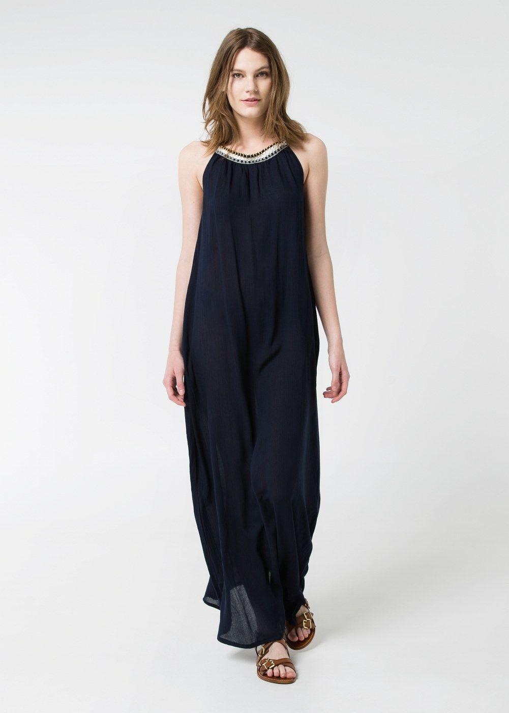 Vestido halter largo - Mujer | Pinterest | Patrones, Modelo y Costura