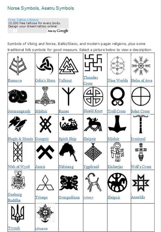 Image Result For Viking Symbols Of Strength Magic Pinterest