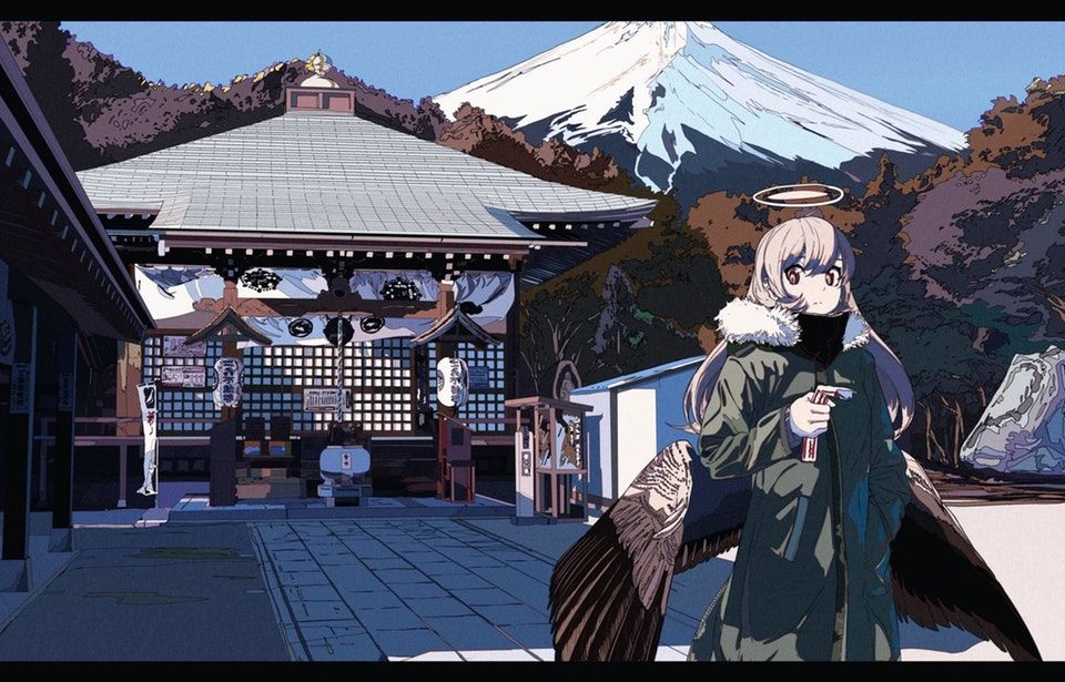 Shrine visit [Original] Moescape Cute anime character