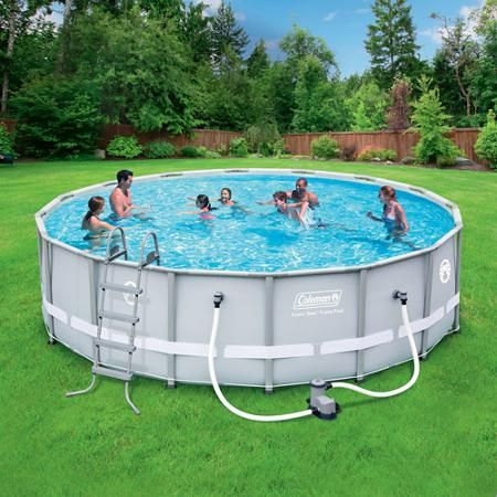 Coleman 16 X 48 Power Steel Frame Above Ground Swimming Pool Set Coleman Pool Plastic Swimming Pool Swimming Pools