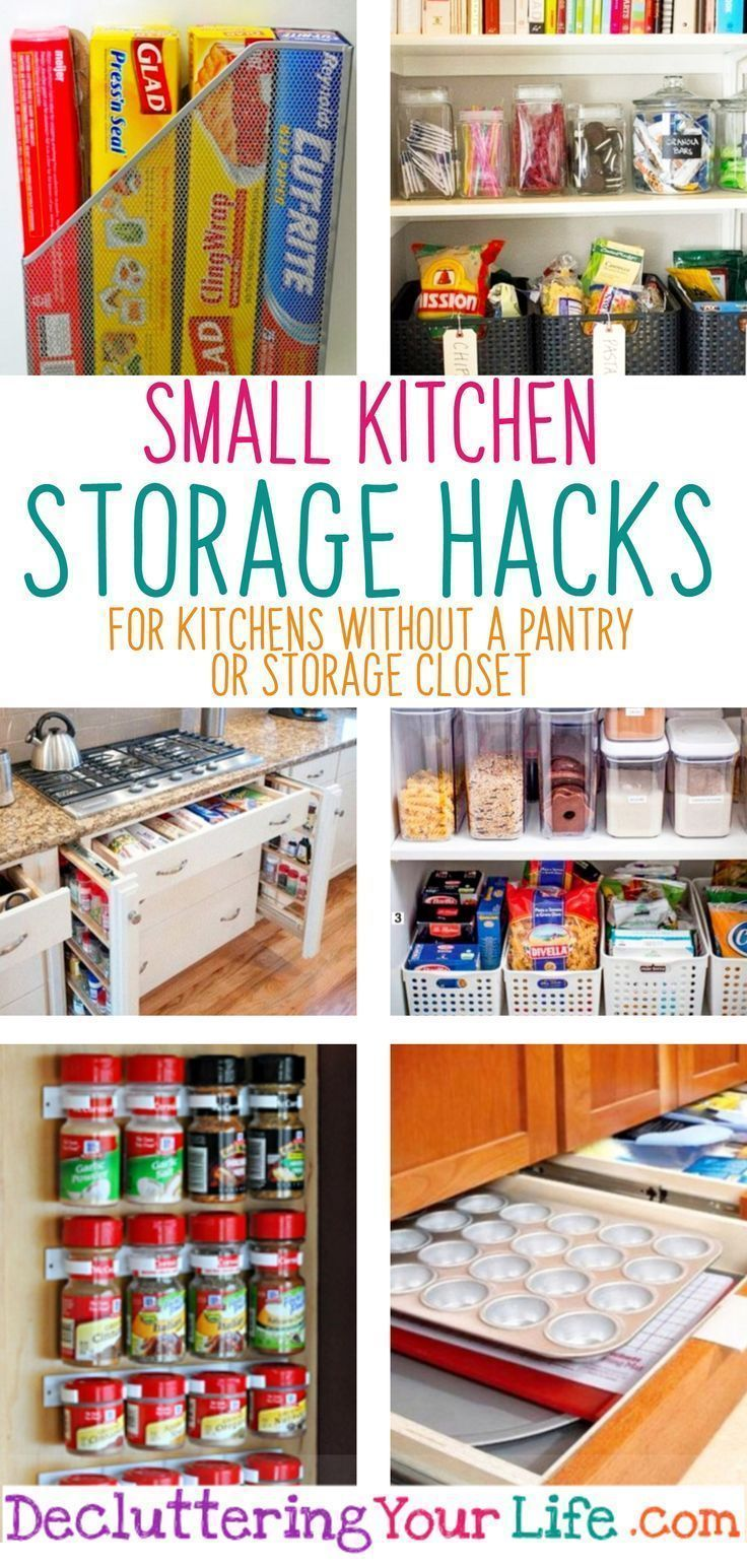 No Pantry? How To Organize a Small Kitchen WITHOUT a Pantry #smallkitchenorganization