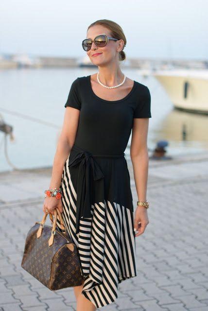 Asymmetrical Striped Dress Style Pinterest Dresses Striped
