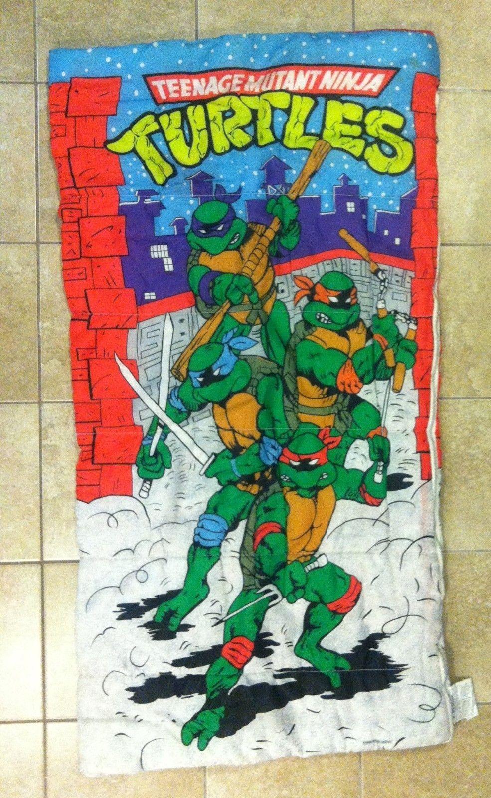 Vintage Age Mutant Ninja Turtles Children S Uni Sleeping Bag Kids Nerd Geek