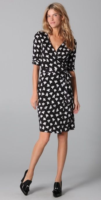 Diane Von Furstenberg New Julian Wrap Dress thestylecure.com