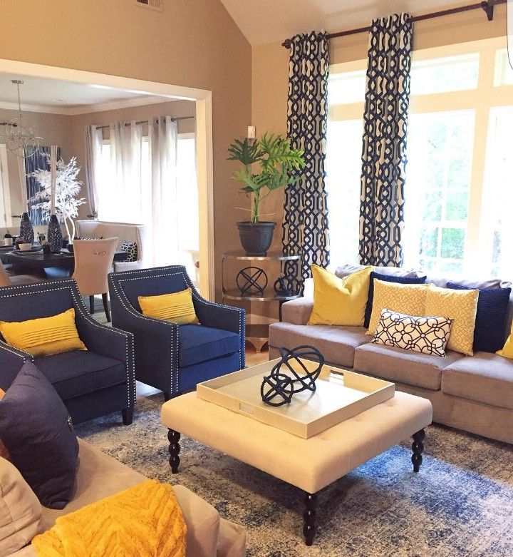 Blue And Yellow Living Room Decor Apartment Living Room Color Schemes Living Room Themes