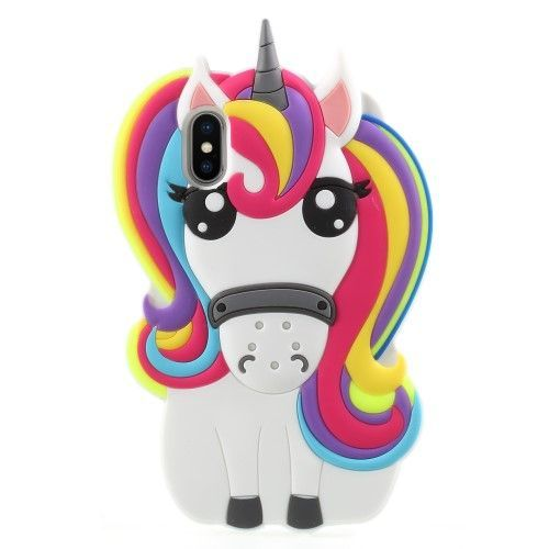 coque iphone x licorne 3d