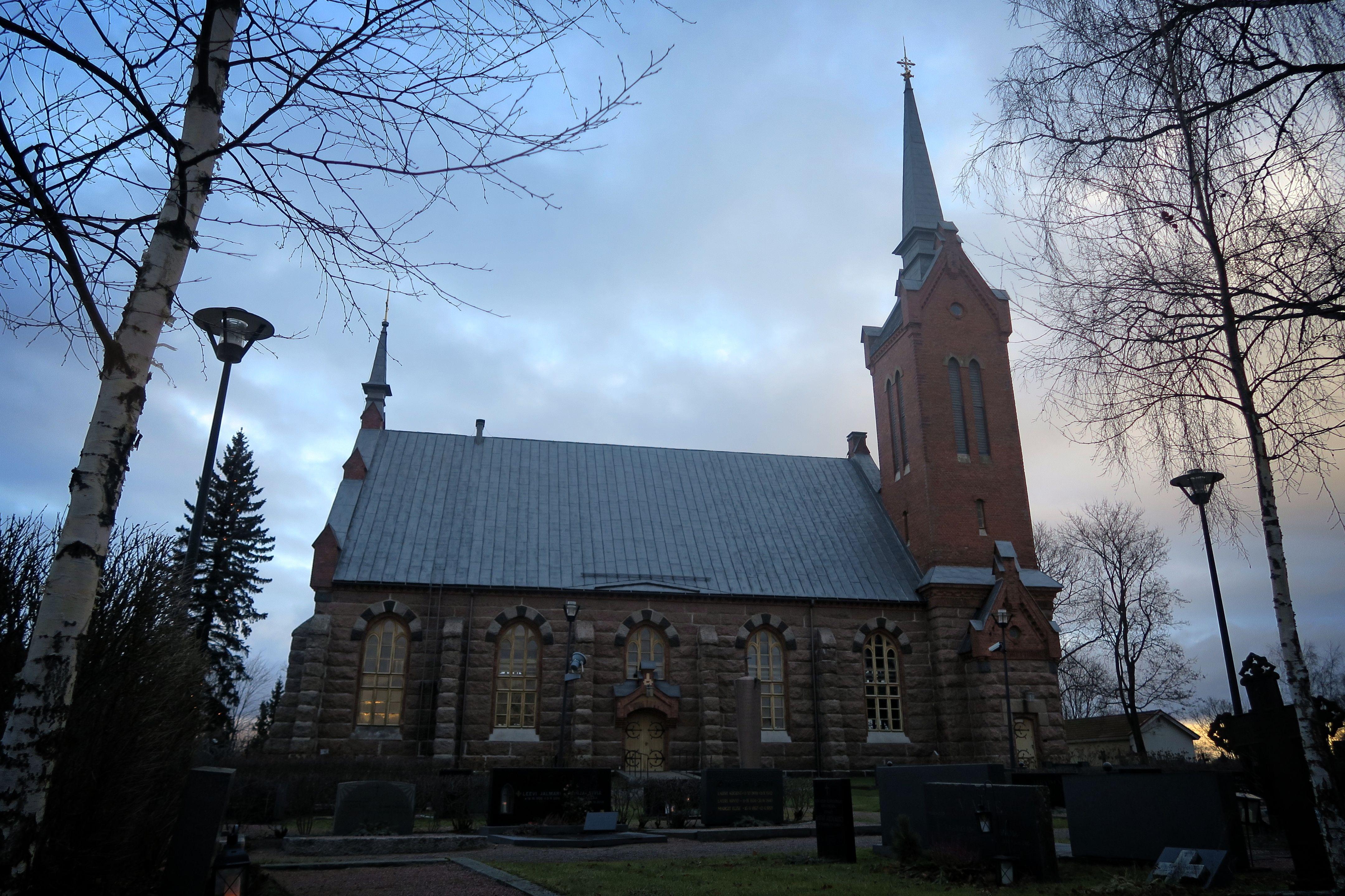 Euran kirkko tapaninpäivänä 26.12.2016