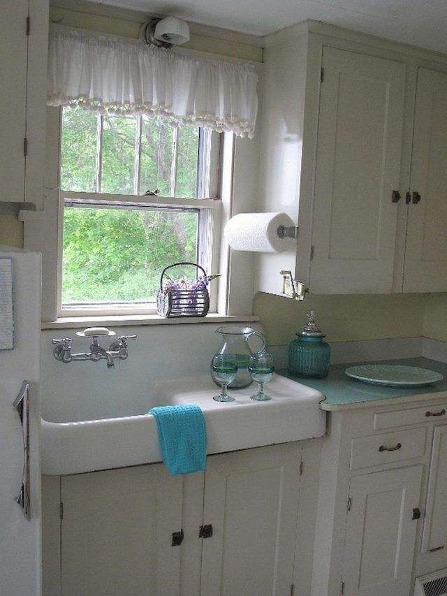 45 elegant farmhouse kitchen furniture ideas on a budget rustic kitchen sinks small kitchen on kitchen sink ideas id=33957