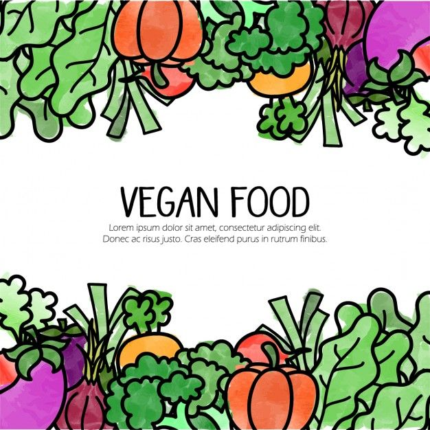 Background With Hand Drawn Vegetarian Food Menu De Comidas