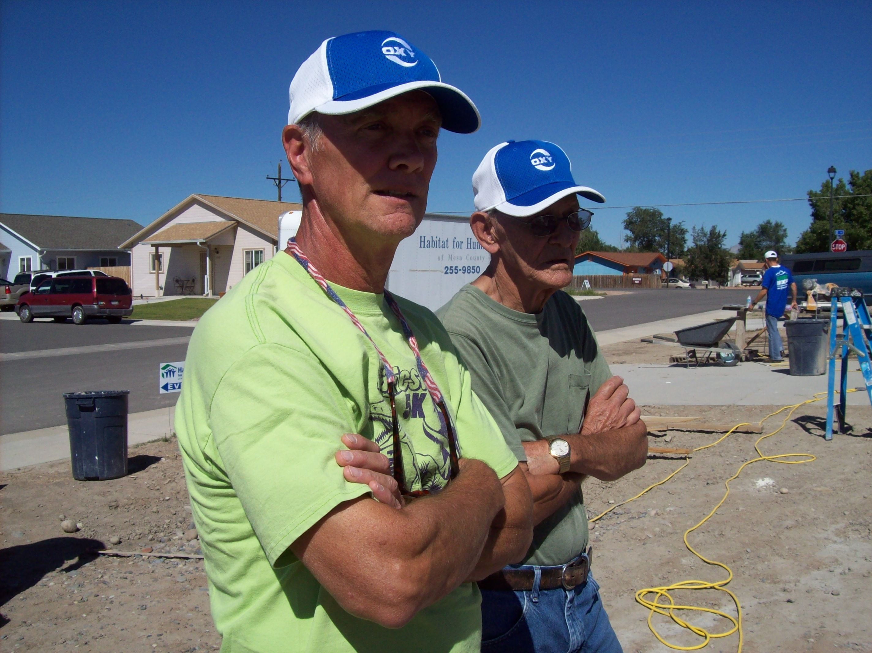 John and Dale, our construction volunteers making sure we are getting it done.