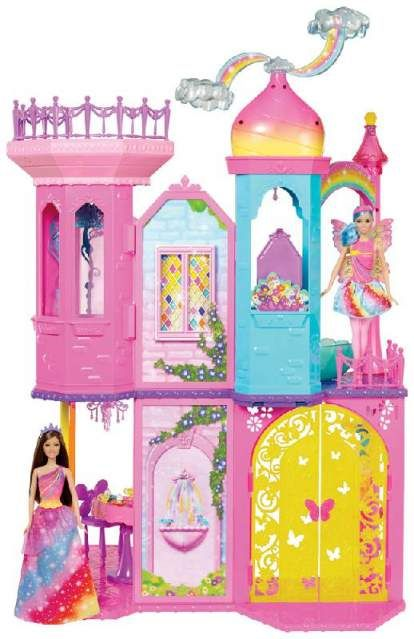Barbie castello arcobaleno Mattel   Barbie, Giocattoli ...