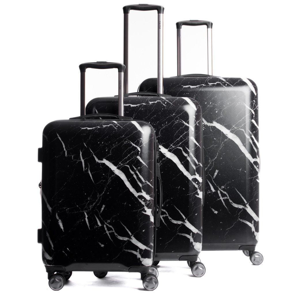 Astyll 3-Piece Luggage Set in Midnight Marble | White marble ...