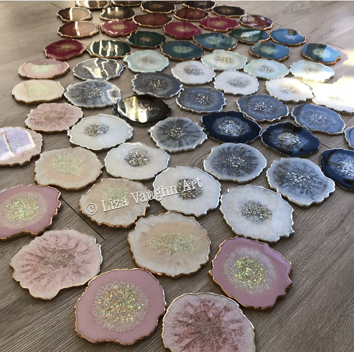 Photo of Geode agate coasters