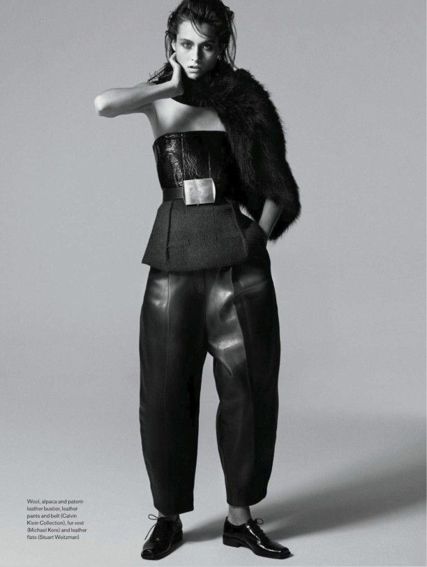 Elle Canada - leather errthang
