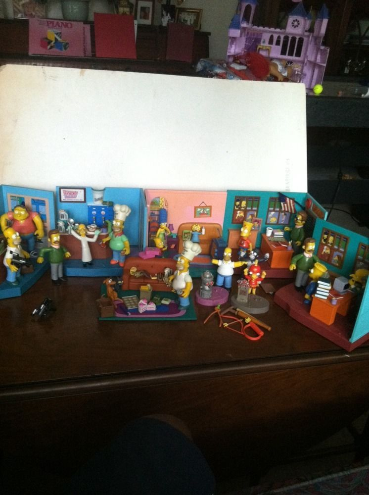 Bart homer simpson play station set of 6 with